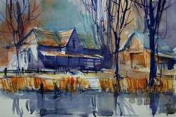 001_2017 Watercolor / Marabu Mixed Media 21,0 x 14,8 cm / 8.3 x 5.8 in / Lukas Aquarell 1862