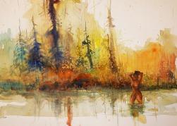 "185_2018 Watercolor / FABRIANO® ""Disegno 5"" fine, ca. 70 x 50 cm / 19.7 x 13.8 in / Lukas Aquarell 1862 https://brushparkwatercolors.wordpress.com/"